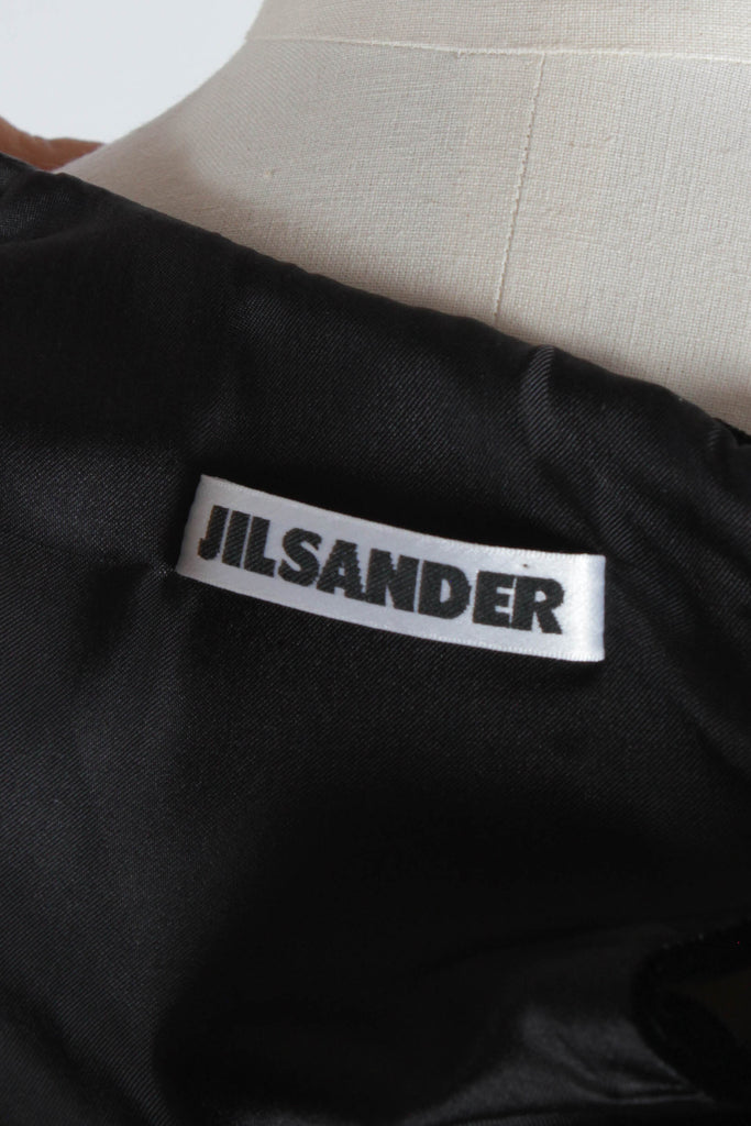 Black Velvet Midi Dress by Jil Sander