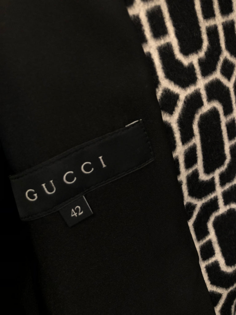 Octagonal Jaquard Coat by Gucci