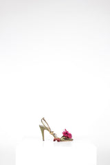 Flower Embellished Sandals by Valentino at Isabella's Wardrobe