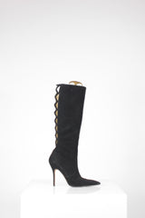 Stiletto Crisscross Kneehigh Boots by Manolo Blanik at Isabella's Wardrobe