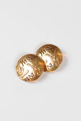Vintage Gold Button Earrings by Yves Saint Laurent at Isabella's Wardrobe