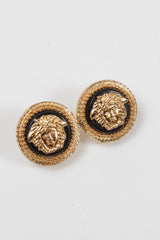 1990's Medusa Clip Earrings by Gianni Versace at Isabella's Wardrobe
