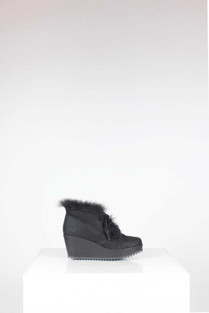 Suede Fidela Wedge Fur Boot by Pedro Garcia