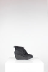 Suede Fidela Wedge Fur Boot by Pedro Garcia at Isabella's Wardrobe