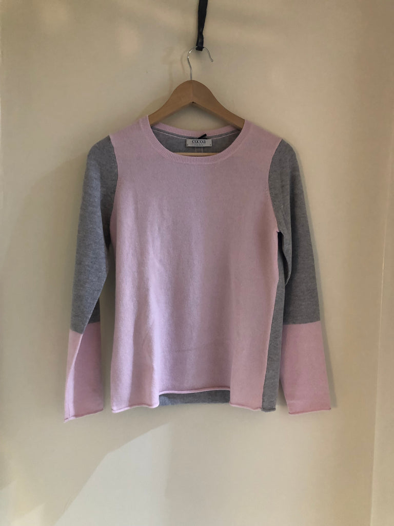 Two Tone Cashmere Knit by Cocoa Cashmere