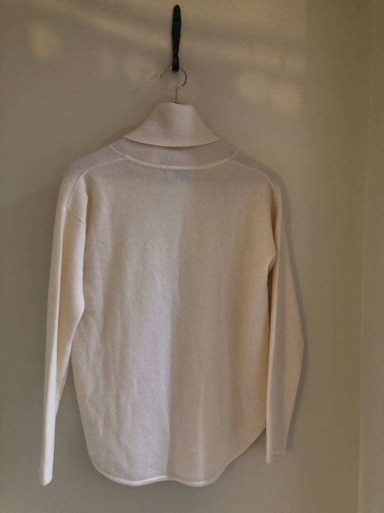 Rolled Collar Cashmere Knit by Cocoa Cashmere