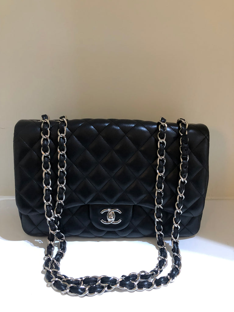 Classic Single Flap Jumbo Bag by Chanel