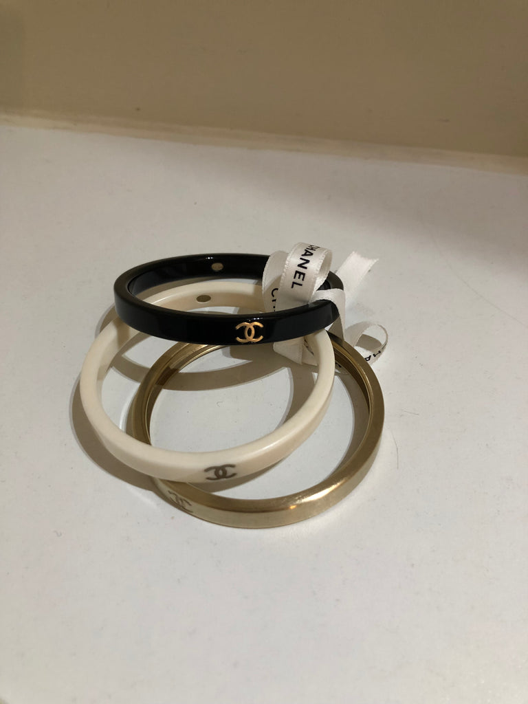 Trio of Bangles by Chanel
