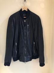 Gents Kino Leather Bomber Jacket by All Saints at Isabella's Wardrobe