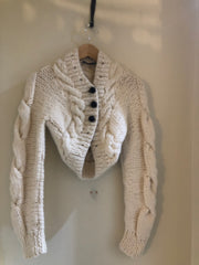 Handknit Cable Cardigan by Alexander McQueen at Isabella's Wardrobe