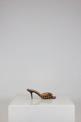 Pony Hair Damier Sauvage Mules by Louis Vuitton at Isabella's Wardrobe