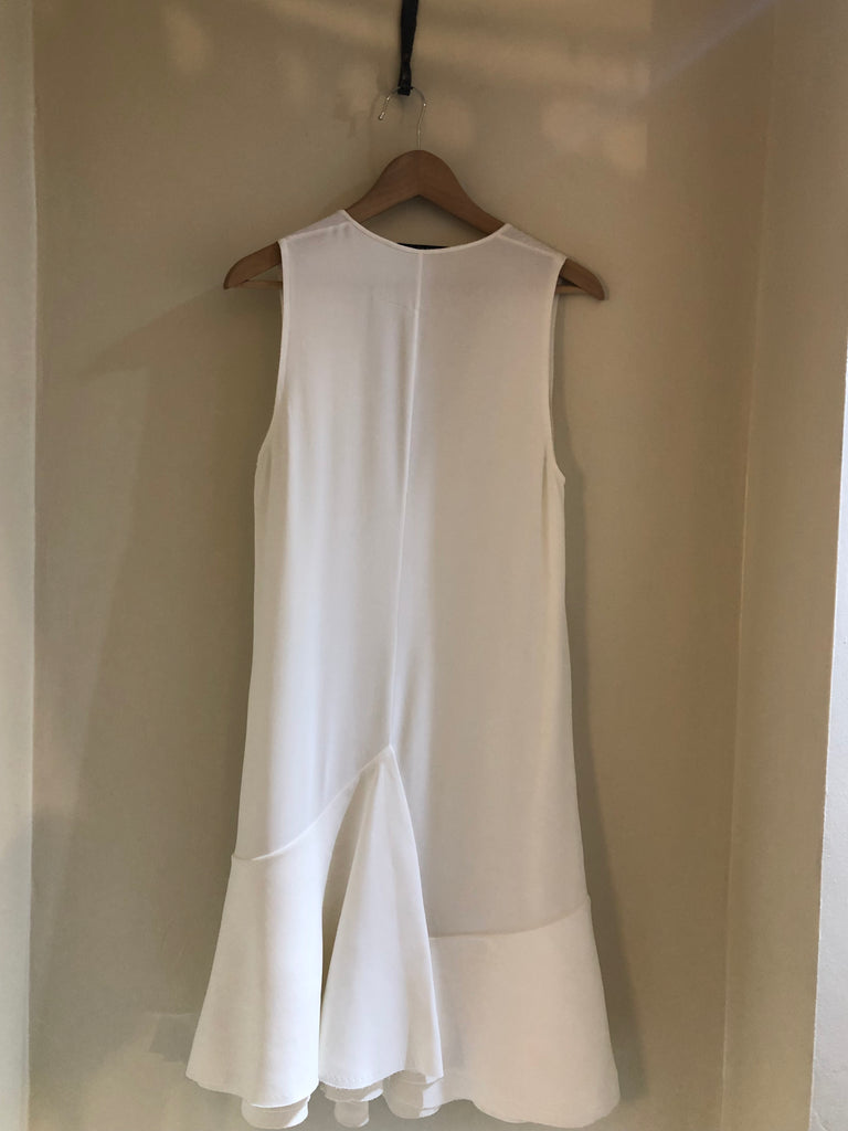 Winter White Sleeveless Dress by Givenchy