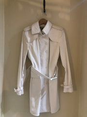 Winter White Trench Coat by Burberry at Isabella's Wardrobe