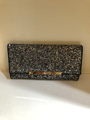 Marilyn Glitter Black Mist Clutch by Jimmy Choo at Isabella's Wardrobe