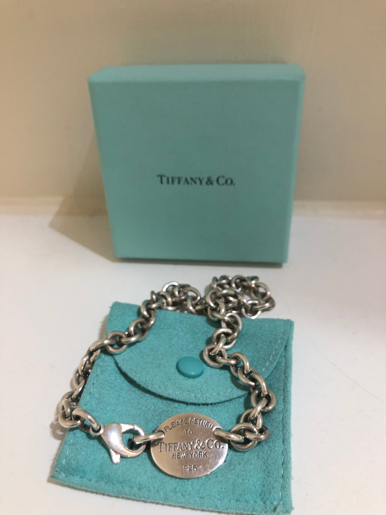 Return to Tiffany Oval Disc Necklace by Tiffany