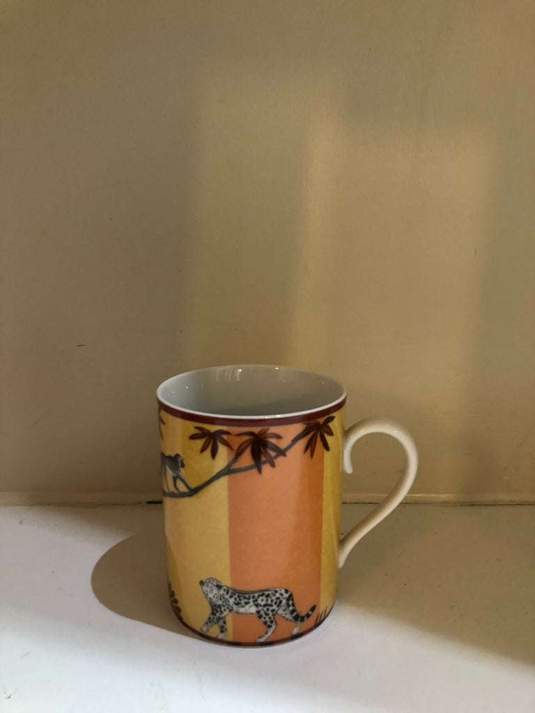 Africa Porcelain Cup and Saucer with Mug by Hermes