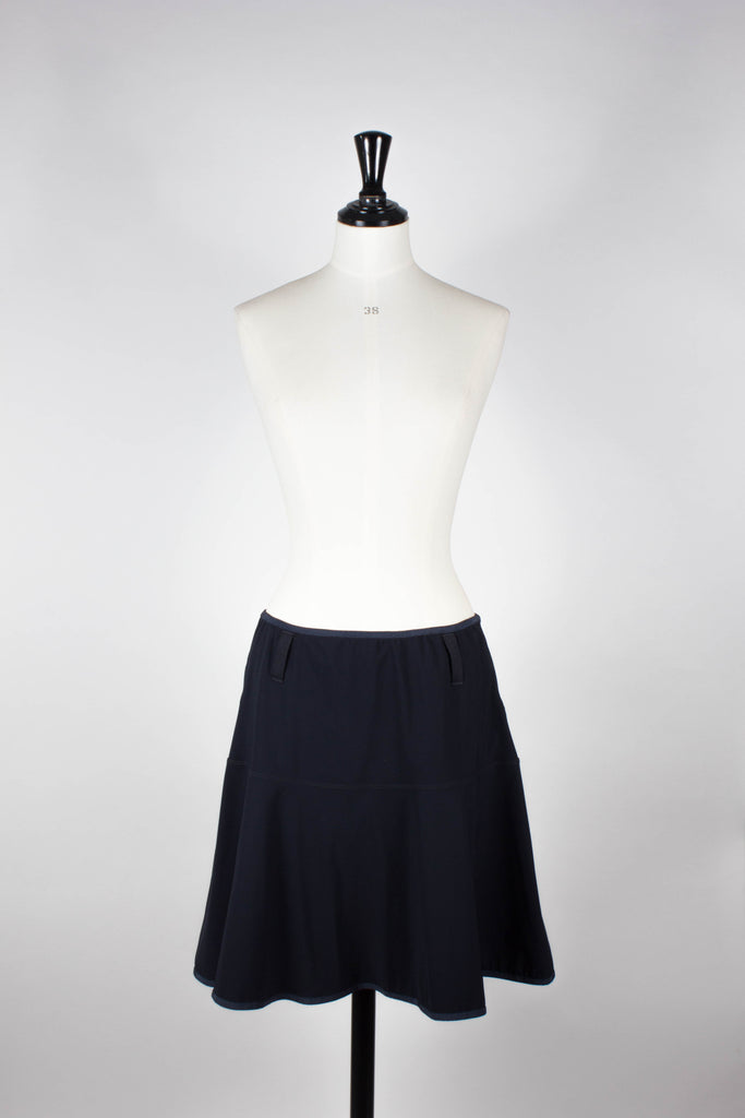Navy A-line Skirt by High