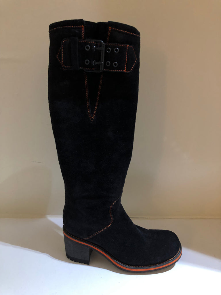 Suede Knee High Boots by Free Lance