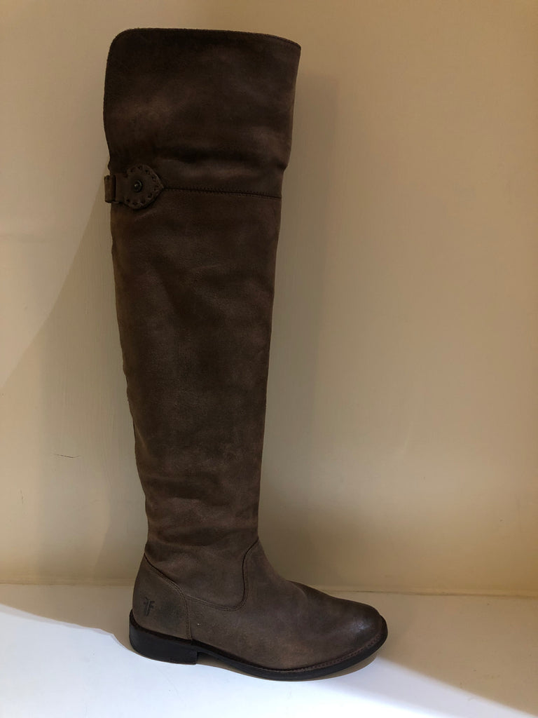 Distressed Over Knee Boots by Frye