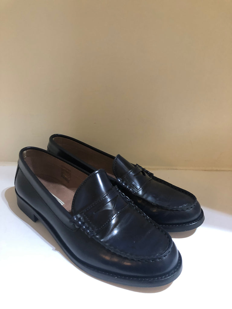 Navy Patent Loafers by Pied A Terre