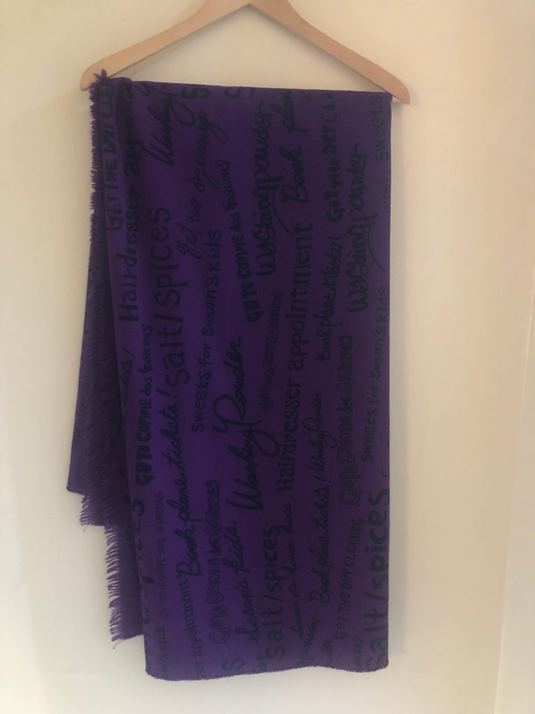 Shopping List Wool Scarf by Comme des Garcons