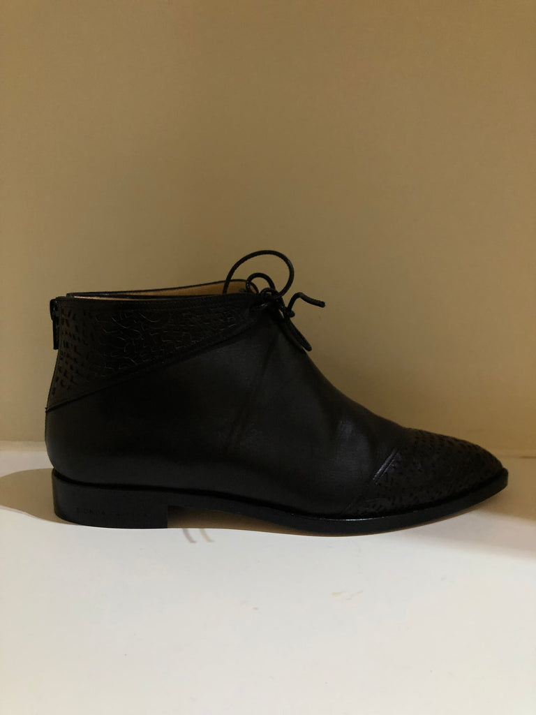 Pointed Zipped Back Ankle Boots by Bionda Castana
