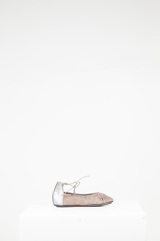 Suede and leather ballet flats by Repetto