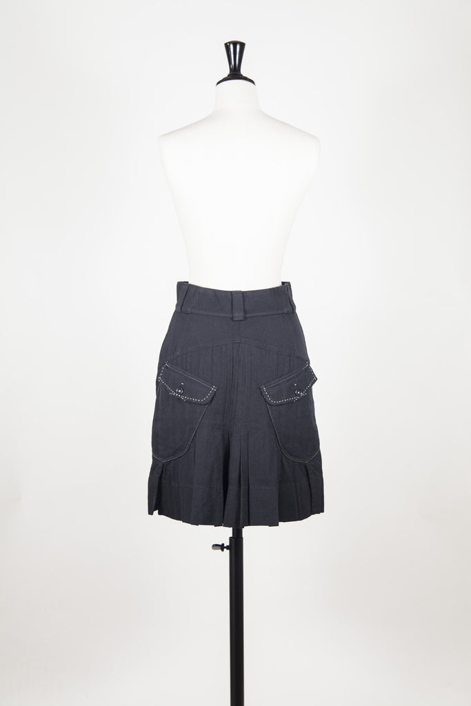 Skirt with pleated back by HIGH