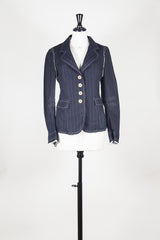 Jacket with thread detail by Marithe et Francois Girbaud at Isabella's Wardrobe