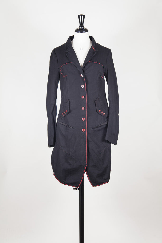 Coat with stitching detail by Marithe et Francois Girbaud