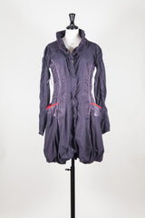 Gathered collar coat by Marithe et Francois Girbaud at Isabella's Wardrobe