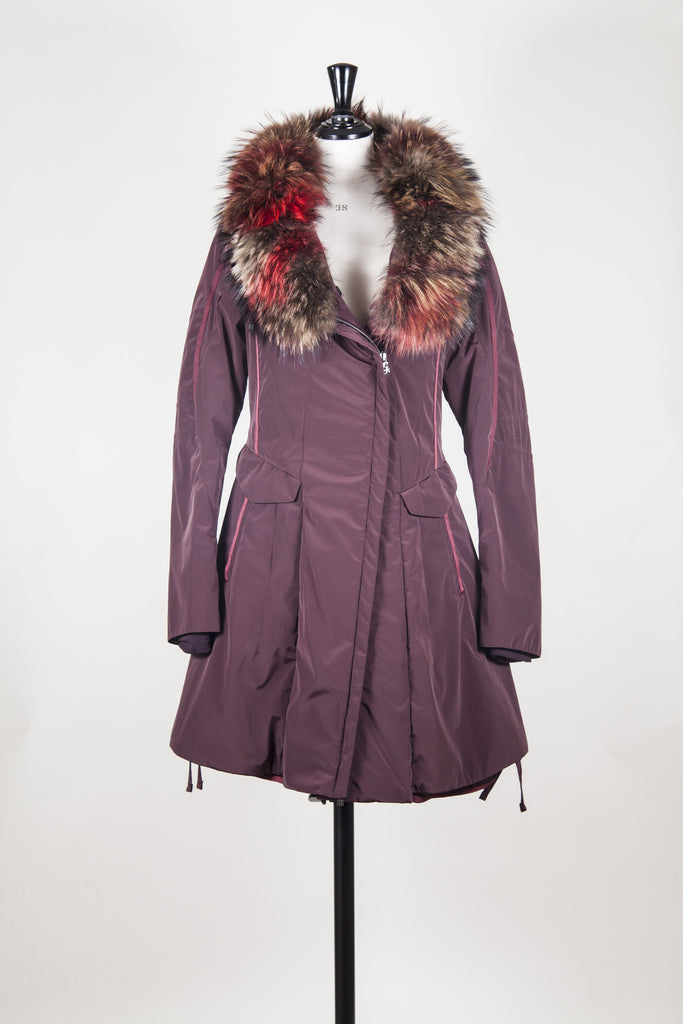 Jacket with fur trimmed collar by MFG ActLive