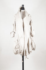 Cotton coat with hood by Marithe et Francois Girbaud at Isabella's Wardrobe