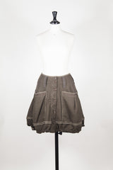Button front wool skirt by HIGH at Isabella's Wardrobe