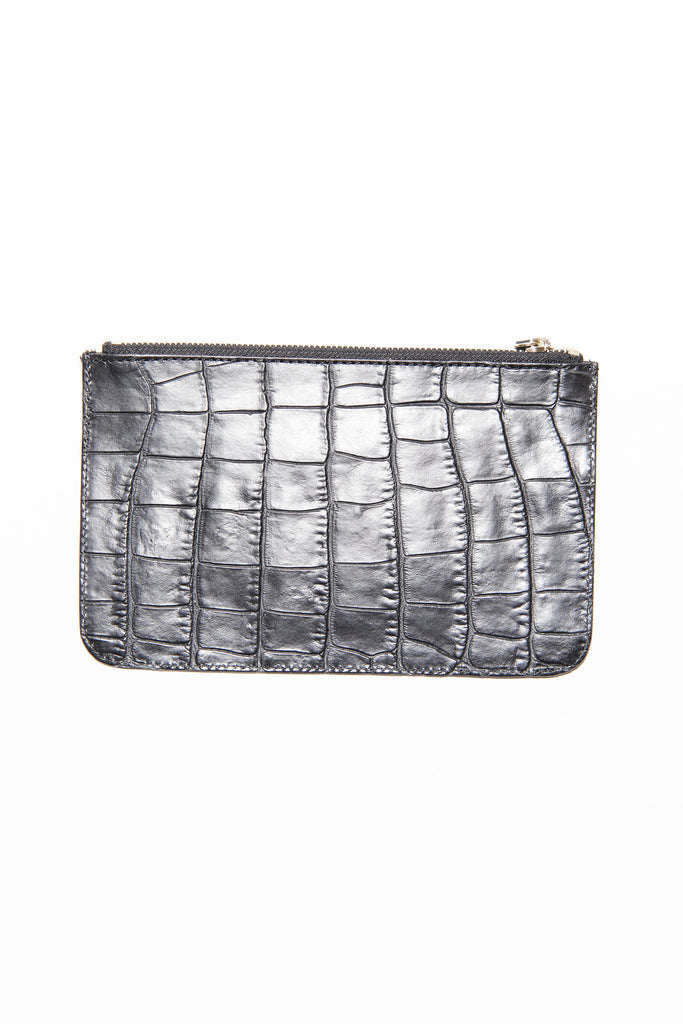 Moc croc leather pouch by Temperley