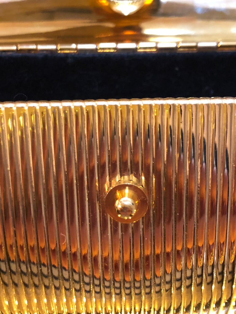 Extremely Rare Gold Metal Minaudiere by Fendi