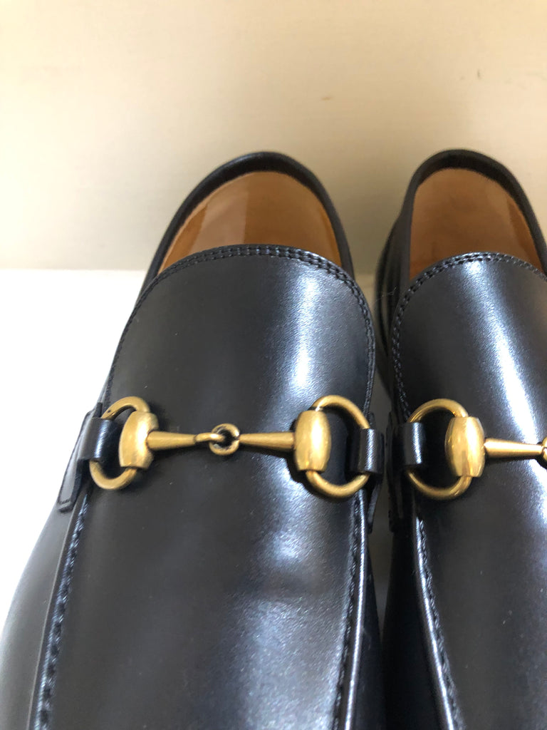 Gents Horsebit-detailed Leather Loafers by Gucci