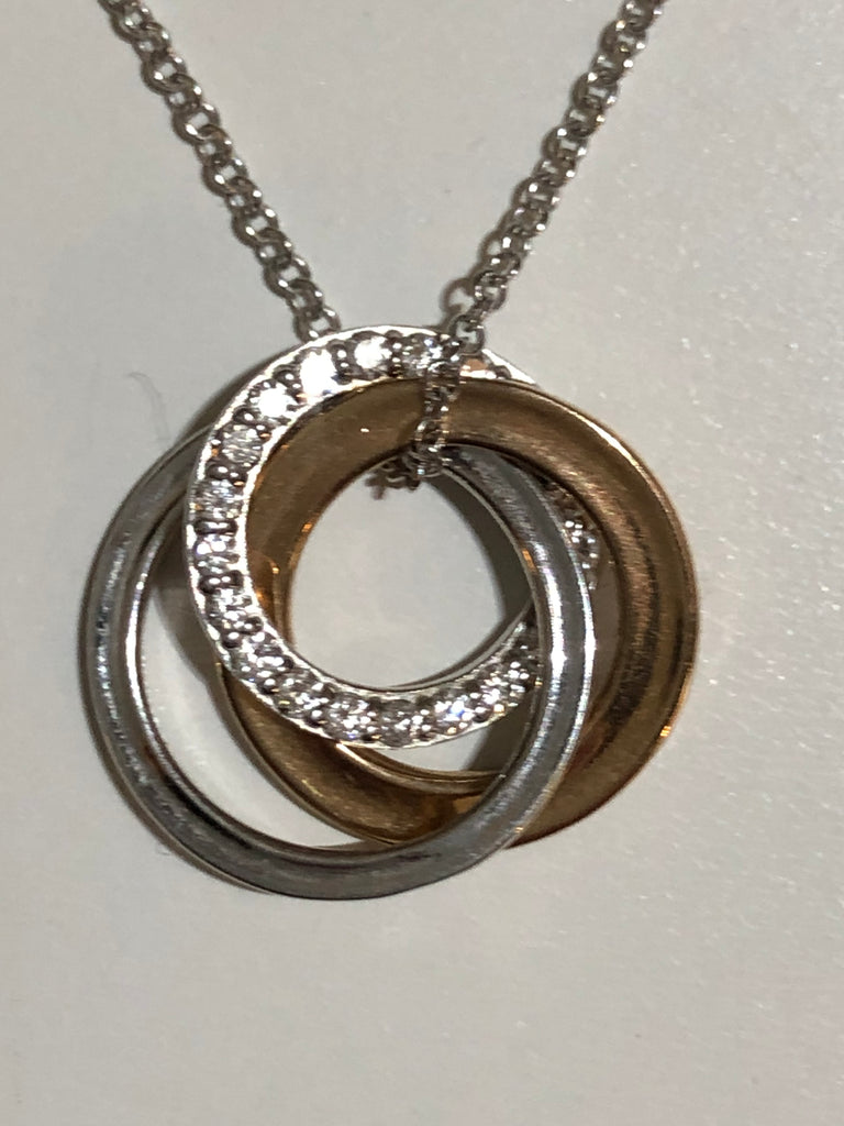 1837 Triple Interlocking Circles Pendant by Tiffany