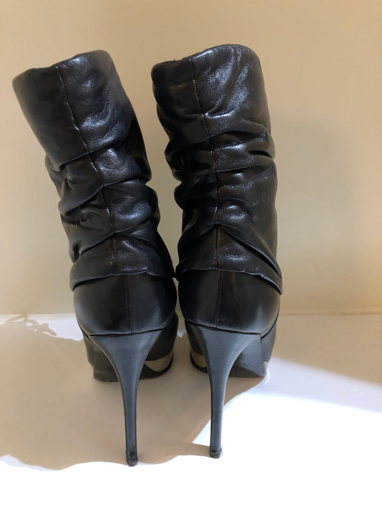 Lambskin Stiletto Ankle Boots by Gucci