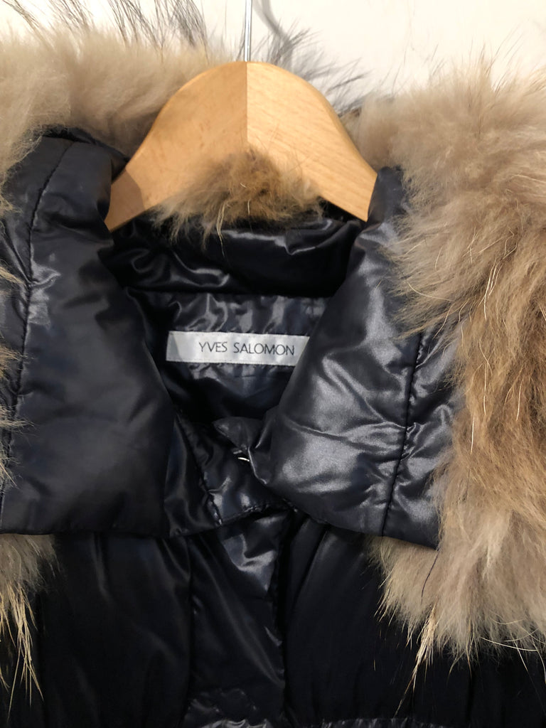 Racoon Trimmed Parka Jacket by Yves Salomon