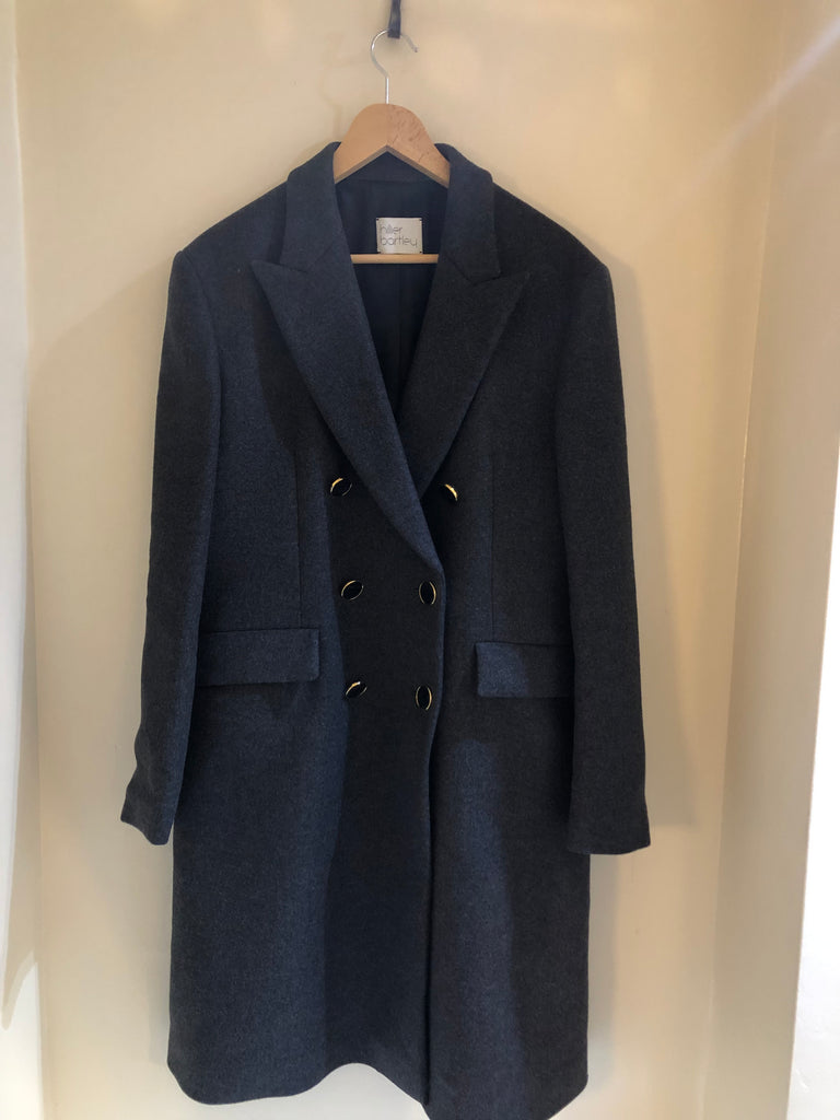 Double- breasted Cashmere/ Wool Coat by Hillier Bartley