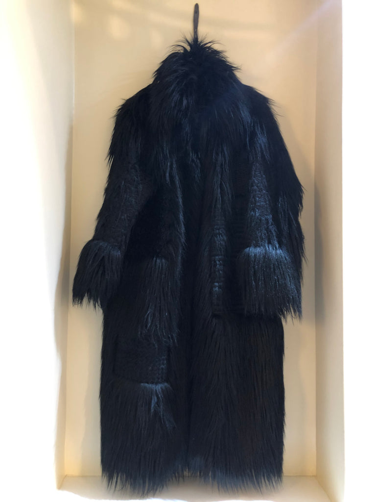 Nyla Embroidered Faux Fur Coat by Stella McCartney
