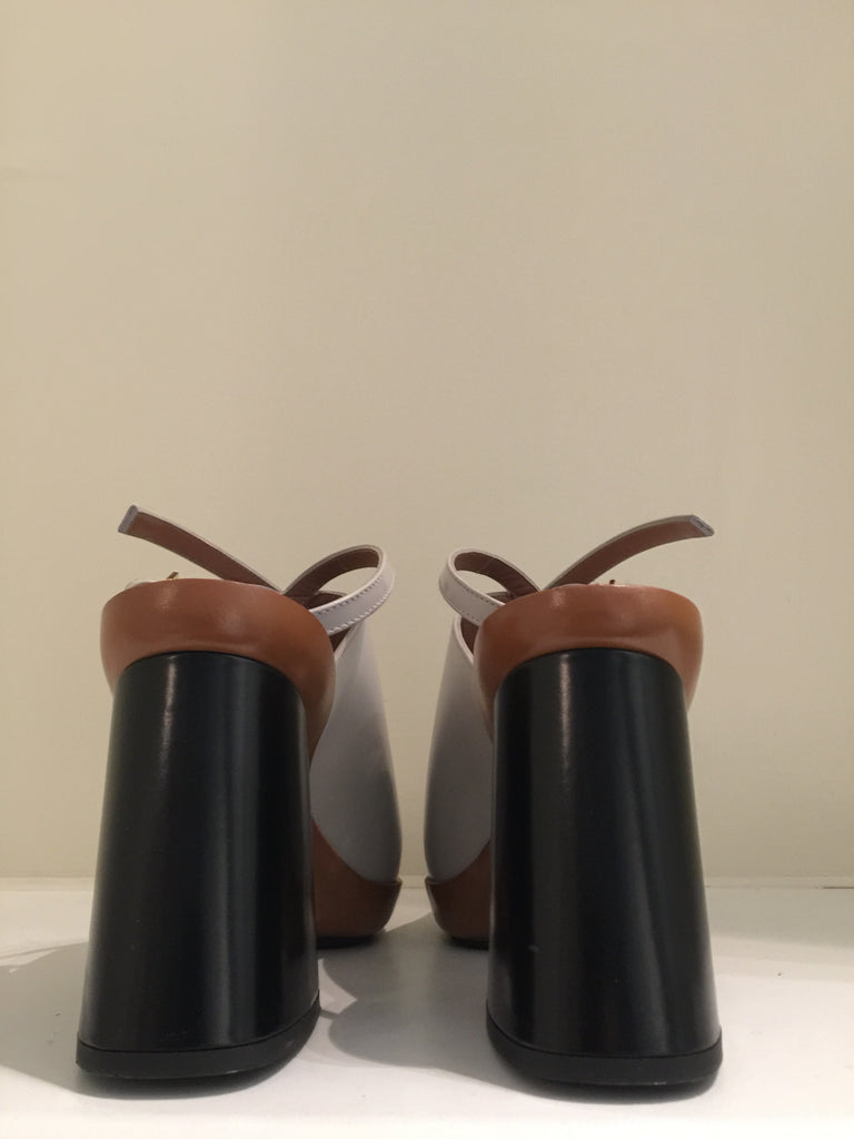 Light Grey Mules by Marni