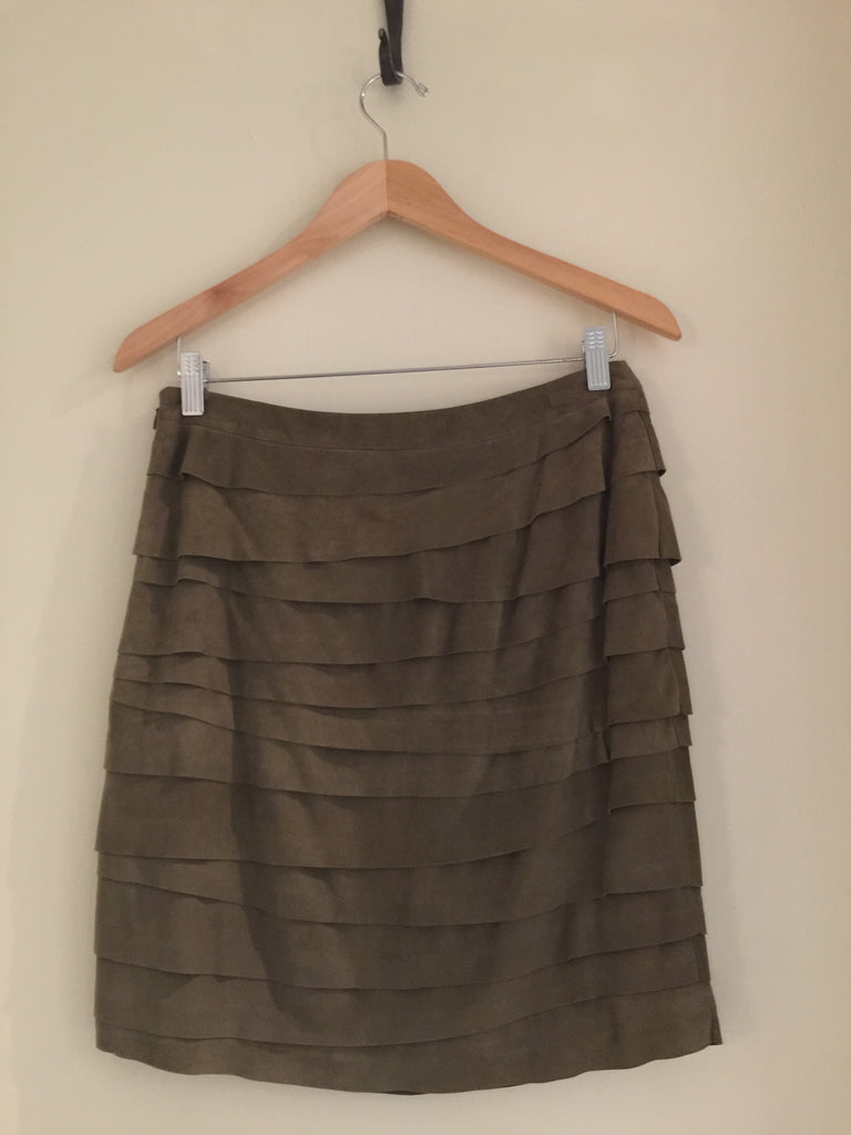 Goat Suede Skirt by Ralph Lauren Black Label