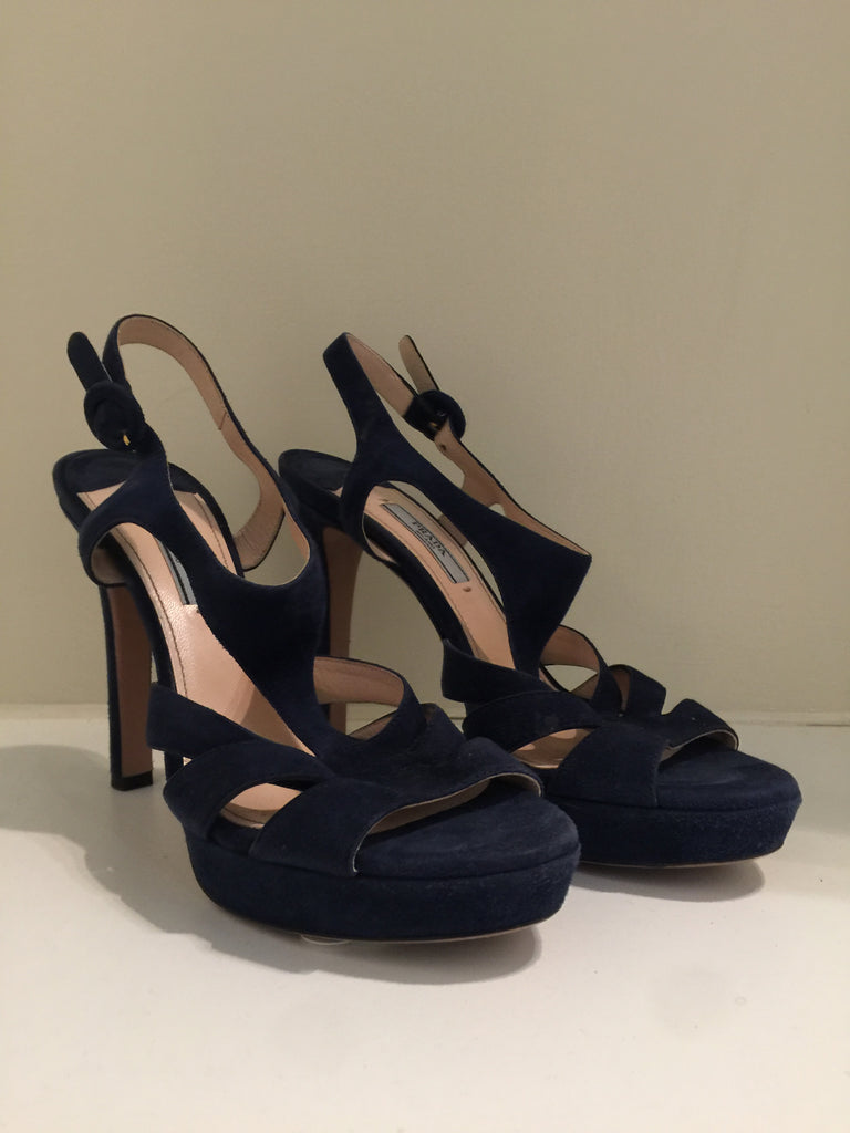 Suede Caged Heels by Prada