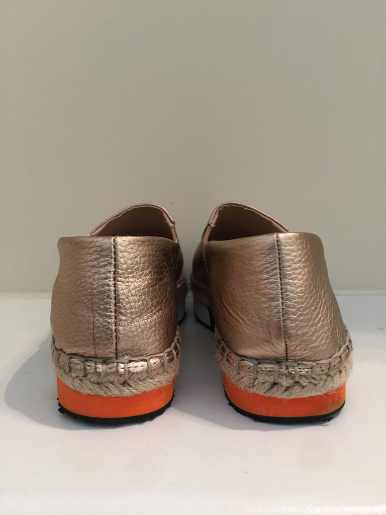 Gold Espadrilles by Marc Cain