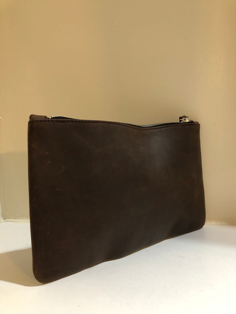 Distressed Leather Pouch by Nomad