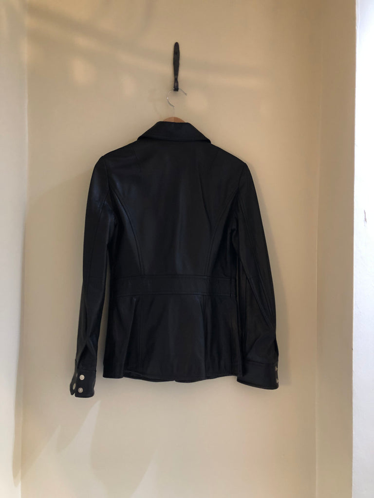 Leather Jacket With Zip Detail by Dolce and Gabbana
