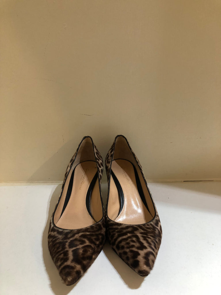Leopard Print Calf Hair Pumps by Gianvito Rossi