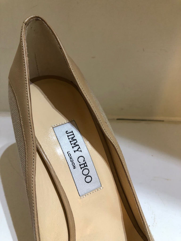 Toto Canvas Peep-toe Heels by Jimmy Choo